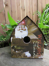 Gnome Birdhouse Garden Decor Metal Roof A Garden Is Solace For the Soul Inspire
