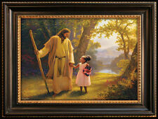 """HAND IN HAND 500 Piece Jigsaw Puzzle Christian Gift 18""""X24"""" Jesus + little girl"""