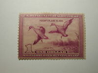 US Department of Interior Scott #RW5 $1 - Migratory Bird Hunting Stamp 1938, ...