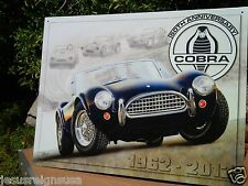 Shelby Cobra 50Th Anniversary Collectible Tin Metal Classic Sign Poster Garage