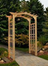 New England Arbors Decorative Westwood Cedar Garden Patio Arch Trellis Lattice
