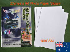 20 sheets A4 180GSM Inkjet  Glossy Photo Paper