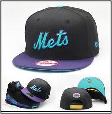 New Era Nuevo York Mets Gorra Snapback Diseñado para Air Jordan Retro 8  Aqua MLB 76424dc3af9