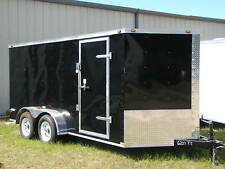 NEW 2018 7x16 7 x 16 VNose Enclosed Cargo Trailer w/Ramp