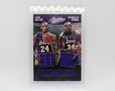 Kobe Bryant & Shaquille O'Neal Team Tandems Jersey Card 79/149. Absolute 2016-17