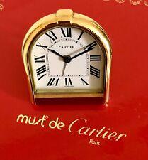Cartier Paris Tischuhr Pendulette Wecker Vintage Messing Vergoldet Modell 6602