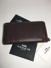 NWT Coach 24377 Oxblood Accordion Zip Wallet in Glovetanned Leather, Coach 1941