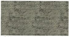 Vollmer kit 46052 NEW HO WEATHERED GRANITE STONE WALL  EMBOSSED CARD SHEET 250X