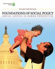 Foundations Of Social Policy Amanda Smith Barusch 5th Edition Hardcover