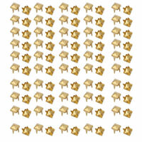 100pcs 4mm Square Shaped Paper Brad Gold Tone for Scrapbooking DIY Craft