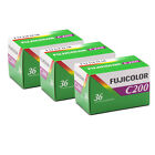 Fujifilm Fujicolor C200 35mm Color Print Film 36 Exp Fuji 3 Rolls Made in Japan
