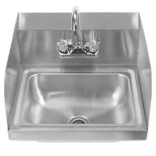 17 Commercial Stainless Steel Wall Mounted Hand Wash Sink With Faucet