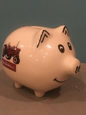 IH McCormick Farmall Piggy Bank-Ceramic with rubber stopper