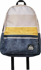 Reef Moving On Backpack in Black/Gold/Stripes