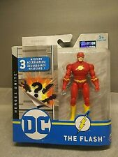 Dc The Flash 4 Inch Action Figure Red Suit 1st Edition 3 Mystery Accessories