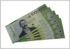 GENUINE NOVELTY AUSTRALIAN MILLION DOLLAR NOTES 5 PACK