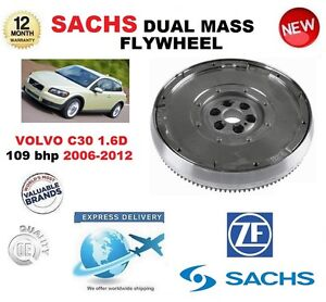 FOR VOLVO C30 1.6 D 109 bhp 2006-2012 SACHS DMF DUAL MASS FLYWHEEL with BOLTS