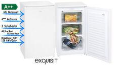 exquisit GS 111-4.4 A++ Gefrierschrank Tiefkühlschrank 60 Liter Weiß Standgerät