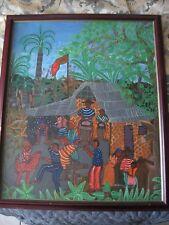 Haitian master Dumerlus Jeune signed original  painting