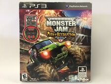 Monster Jam: Path of Destruction (PS3), New W/ Worn Box, Includes Steering Wheel