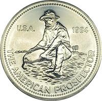 1984 American Prospector .999 Vintage Silver Art BU Bullion Engelhard Round