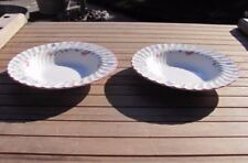 "Set of 2 Johnson Brothers Summer Chintz 8.5"" Rimmed Soup Bowls Made in England"