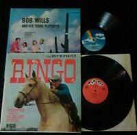 2 LP COWBOY Bob Wills & His Texas Playboys RINGO BIG BAD JOHN the deputies VINYL