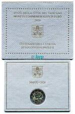 + 2 Euro Gedenkmünze Vatikan 2020 - 100. Geburtstag Johannes Paul II, sehr rar +