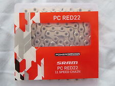 SRAM PC RED22 11 SPEED ROAD CHAIN *NEW* FORCE 114L inc POWERLOCK