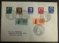 1945 Italy Tirest Fascist Social Republic Cover Domestic Used Stamp Set