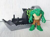 Imaginext DC Super Friends Killer Croc & Swamp Boat Figure Original