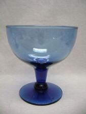 2 Cobalt Blue Glass Large Sherbet Ice Cream Berry Dessert  Dish Bowls