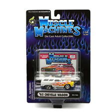 1965 Chevy Chevelle Wagon Muscle Machines Moulage sous Pression 1:64 Echelle