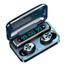Stylish Invisible Wireless Earbuds Headphones w/ Charging Cabin CVC8.0 for