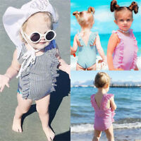 Newborn Toddler Kids Baby Girl Swimsuit Ruffles Bathing Suit Bikini Swimwear NEW