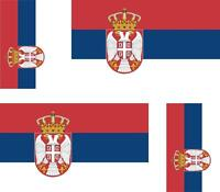 4 x Autocollant sticker voiture moto drapeau serbie serbe