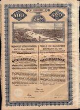 HUNGARY City of Budapest Bond dd 1911