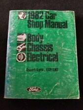 1982 Ford Shop Manual, Body/Chassis/Electrical, Escort/Lynx, Exp/Ln7