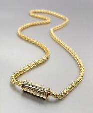 """CLASSIC 18kt Gold Plated BALINESE Cable Magnetic Clasp 17"""" Cable Chain Necklace"""