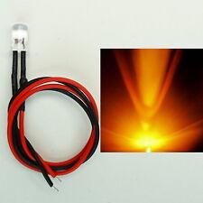 LED 5mm ARANCIO 16v - 24v cablato MODELLISMO Guillaume illuminazione c2953