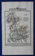 Original antique county map LANCASHIRE, John Cary, 1828