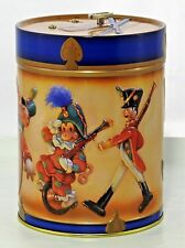 "Musical Christmas Lambertz GERMAN Toy Soldiers Marching 5-3/8""h Tin Music Box"