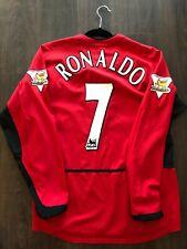 2002-04 Manchester United Home L/S Shirt Ronaldo #7 (Excellent) M