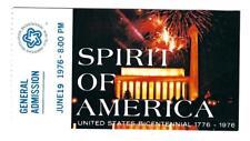 06-19-1976 SPIRIT OF AMERICA - BICENTENNIAL CONCERT TICKET - WASHINGTON, D.C.