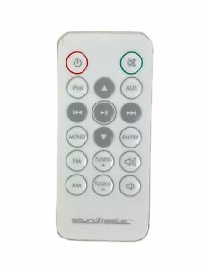 Soundmaster iPod Docking Audio Original Replacement Remote Control White Tested