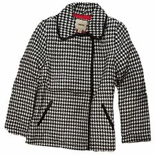 Cherokee Girls Black & White Houndstooth Peacoat Coat Jacket Size, X-Small 4/5