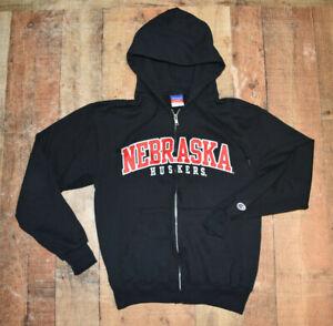 WOW Vintage Champion NEBRASKA CORNHUSKERS Sewn Full Zip Jacket Hoodie Small