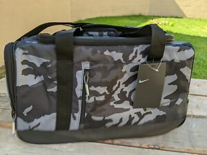 New Nike Sports Printed Golf Duffle Bag Black Gray Camouflage BA5757-036 NWT