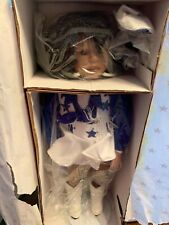 NFL Jr Dallas Cowboys Cheerleaders Doll Dominique 1996 New in Box COA 18 Inch