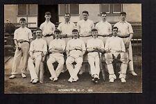 Accrington Cricket Club Team 1906 - real photographic postcard